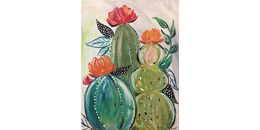 Cactus Trio Canvas Painting Workshop- Buford