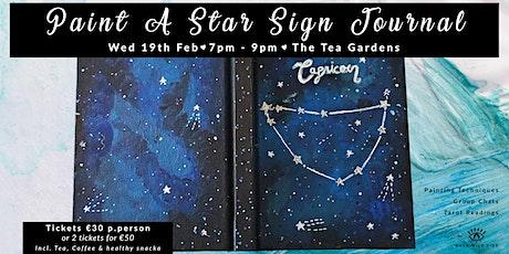 Paint A Star Sign Journal + Tarot Reading tickets