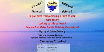 Delta Ride, Surf and Ski ~ May 30-31, 2020