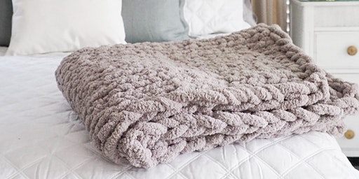 Hand Knit Chunky Blanket Workshop - March 21