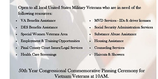 Pinal County Veteran Stand Down - Provider Registration