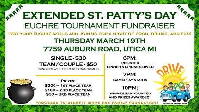 Extended St. Patty's Day Euchre Tournament Fundraiser tickets