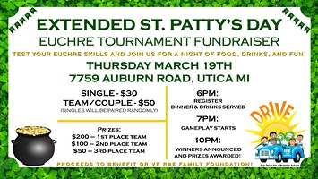 Extended St. Patty's Day Euchre Tournament Fundraiser