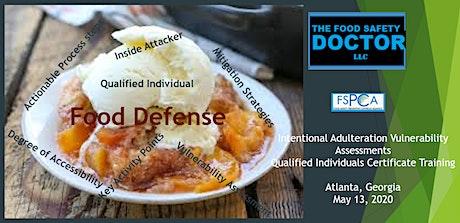 Food Defense Qualified Individuals FSPCA (IAVA-QI) Certificate Training: Atlanta Georgia:  tickets