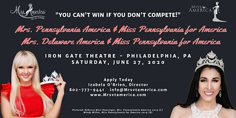 Mrs./Miss Delaware and Pennsylvania for America tickets