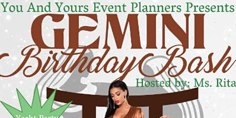 Gemini Birthday  Bash Yacht Party - Miami Florida/2020 tickets