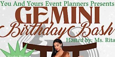 Gemini Birthday  Bash Yacht Party - Miami Florida/2020 tickets
