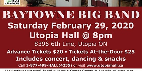 A Jazz-y Farewell to the February Blues with the BAYTOWNE BIG BAND tickets