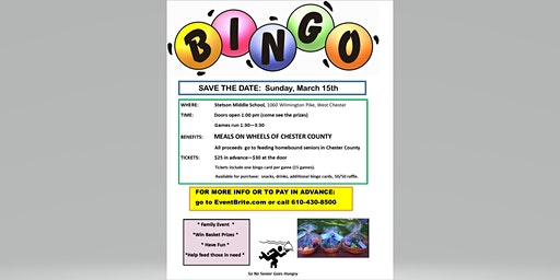 MEALS ON WHEELS OF CHESTER COUNTY - BINGO