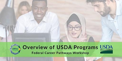 Federal Career Pathways Workshop - Overview of USDA Programs