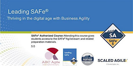 Leading SAFe 5.0 with SA Certification Cork by Ana Maria Vintila tickets