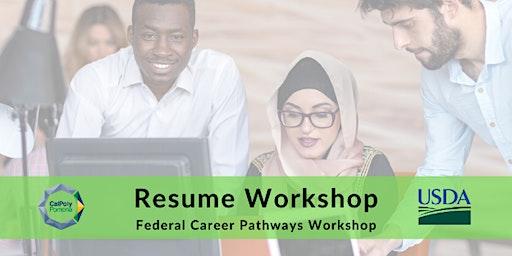 Federal Career Pathways Workshop - Resume Workshop