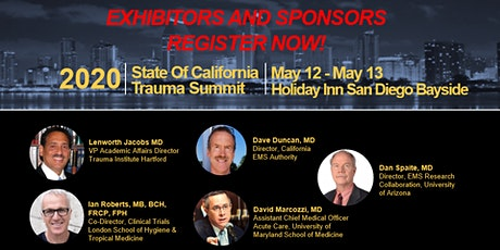 2020 State of California Trauma Summit Sponsors/Exhibitors Registration tickets