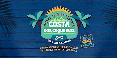 Missão Técnica Resorts: Costa dos Coqueiros (BA) billets