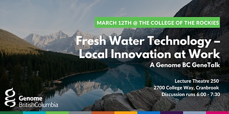 Fresh Water Technology – Local Innovation at Work tickets