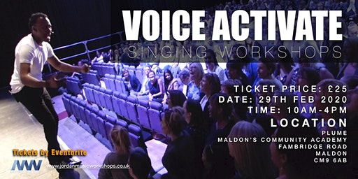 VOICE ACTIVATE SINGING WORKSHOPS - MALDON