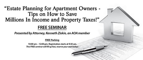 Estate Planning for Apartment Owners - Tips On How to Save Millions in Income and Property Taxes (VN) tickets