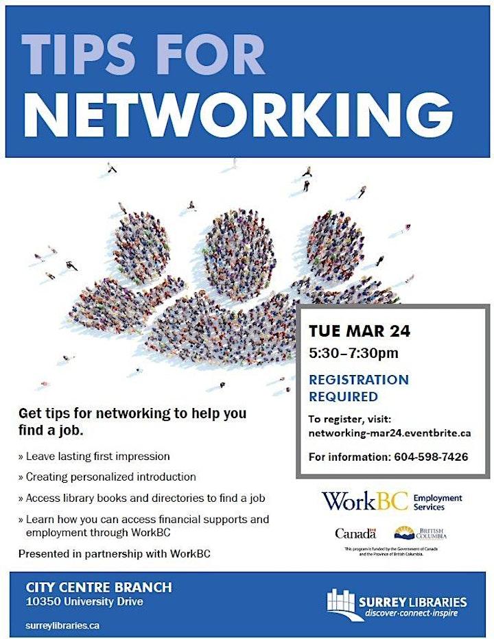 Tips for Networking Workshop image