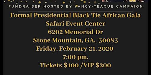 Formal Presidential Black Tie African Gala Fundraiser