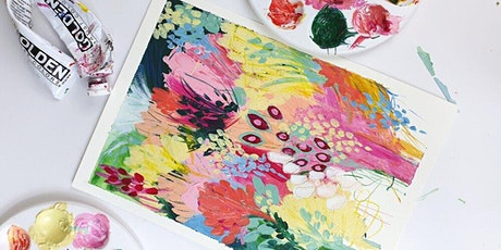 Abstract Floral Painting Workshop - March 7th 2pm tickets