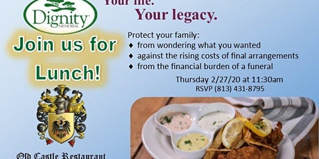 Lunch & Learn at Old Castle Restaurant billets