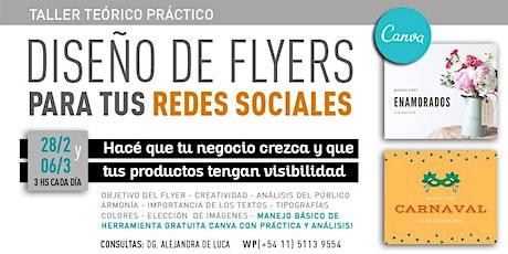 Diseño de flyers para redes sociales entradas