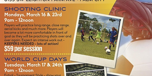 Massive Soccer Spring Break Shooting Clinic & World Cup Days