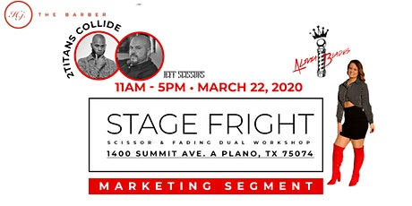 -Stage Fright- Shear Cut & Fading DUAL Workshop tickets