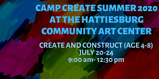 Camp Create- Create and Construct (age 4-8)