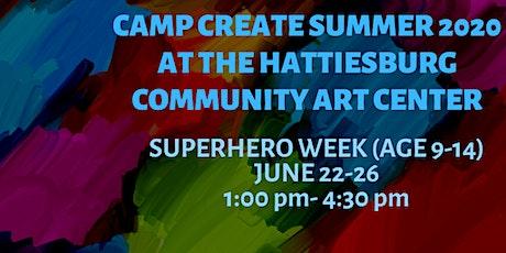 Camp Create Superhero Week(age 9-14) tickets