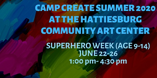 Camp Create Superhero Week(age 9-14)