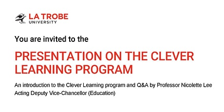 PRESENTATION ON THE CLEVER LEARNING PROGRAM tickets
