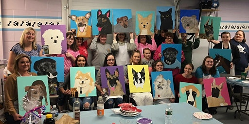 Paint Your Pet Canvas Paint Night at Eis Cafe Europa and Tikki Tee