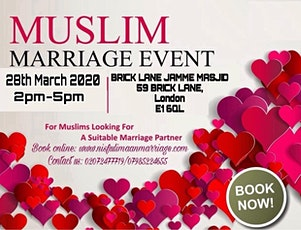 Muslim Marriage Matchmaking Event in London tickets