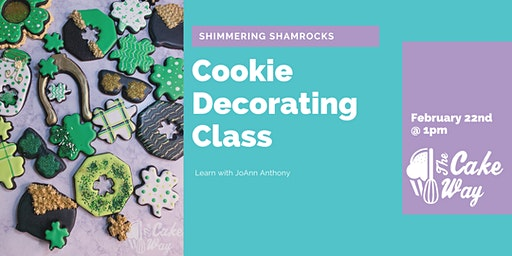 Shimmering Shamrocks Cookie Decorating Class