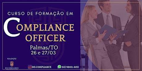 Curso de Formação em Compliance Officer em PALMAS/TO ingressos