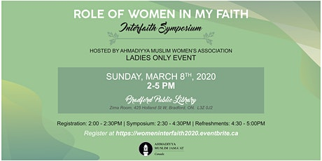Interfaith Symposium: Role of Women in my Faith tickets