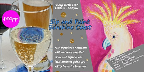 Sip and Paint Sunshine Coast tickets