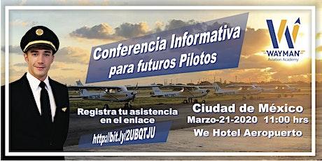 Conferencia para Futuros Pilotos Wayman Aviation GRATIS boletos