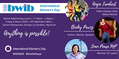 International Womens Day Lunch - Anything is Possible!