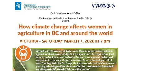 Climate Change and How it Affects Women Farmers in BC and Around the World tickets