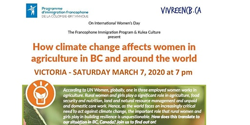 Climate Change and How it Affects Women Farmers in BC and Around the World
