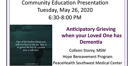 HOPE Dementia Community Education - Anticipatory Grieving tickets