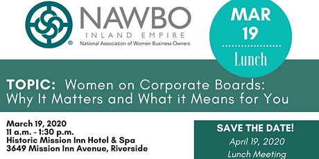 NAWBO-IE March 2020 Meeting tickets