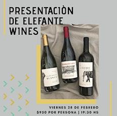 Presentación de Elefante Wines entradas