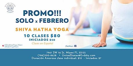 Promo Febrero en Clases de Hatha Yoga boletos