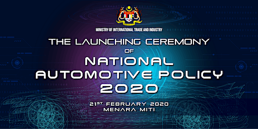 (MEDIA LINK)The Launching Ceremony of National Automotive Policy (NAP) 2020