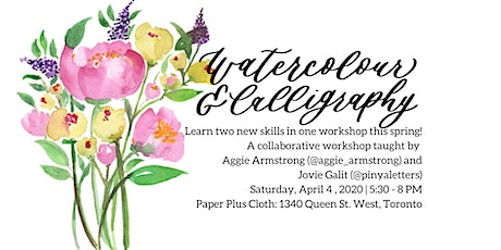 Watercolour and Brush Calligraphy Workshop tickets