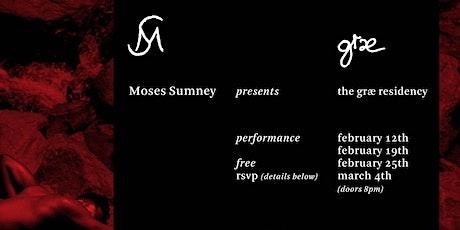 Moses Sumney græ Residency tickets