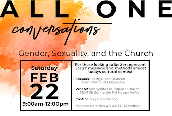 Gender, Sexuality, and the Church tickets
